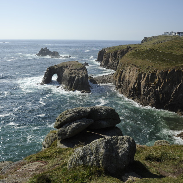 """""""Land's End, Cornwall"""" stock image"""