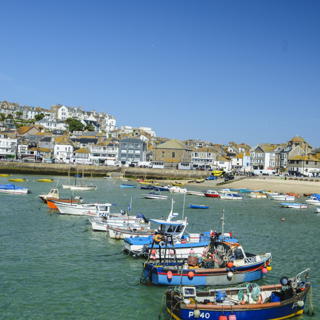 """""""St Ives Harbour, Early Morning"""" stock image"""
