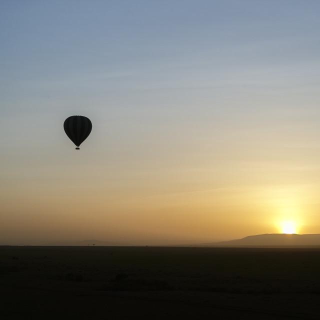"""Sunrise over Mara"" stock image"