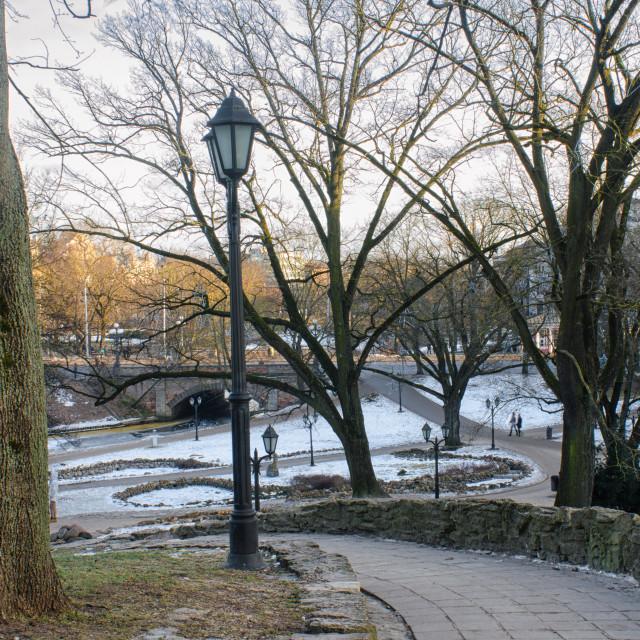 """Bastion Hill Park In Riga"" stock image"