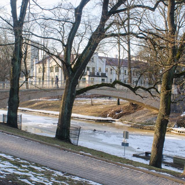 """Riga In Winter"" stock image"