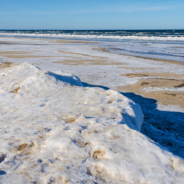 """""""Ice Landscape At The Shore Of Baltic Sea"""" stock image"""