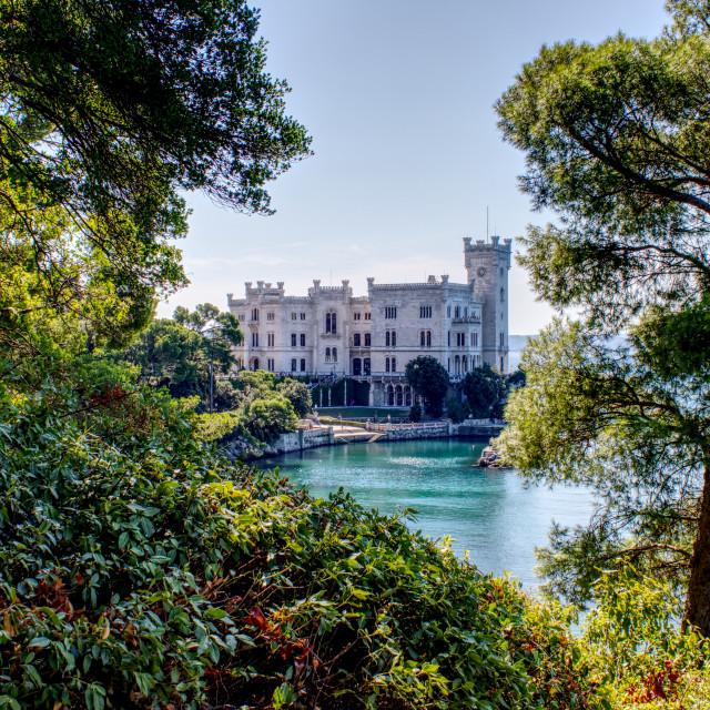 """""""Castello di Miramare"""" stock image"""