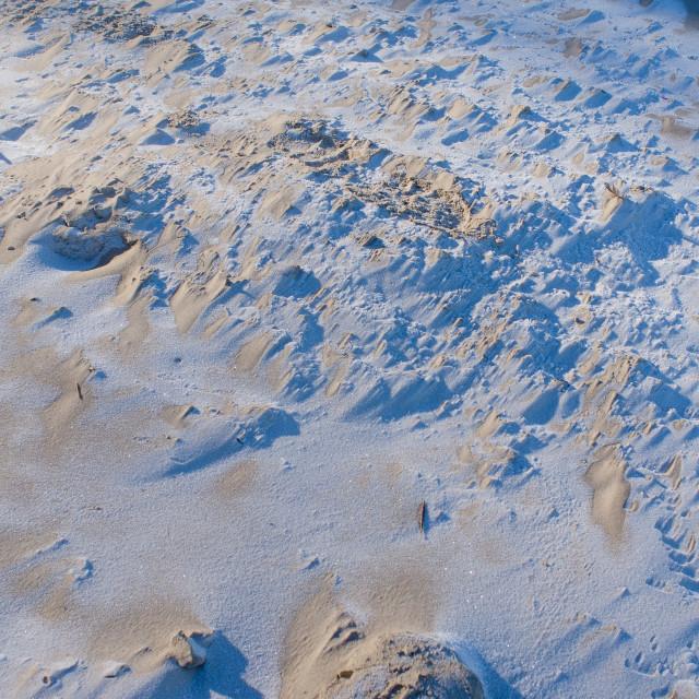 """Light Play On Frozen Sand"" stock image"