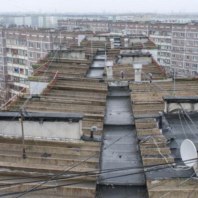 """""""Soviet Remnants In Riga"""" stock image"""