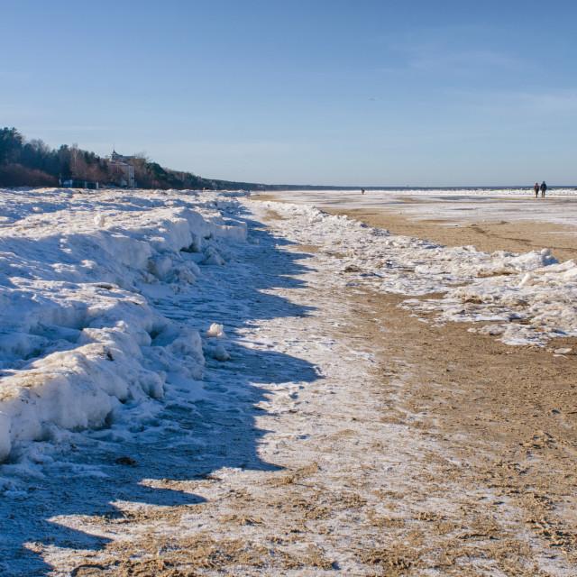 """Path Of Ice"" stock image"