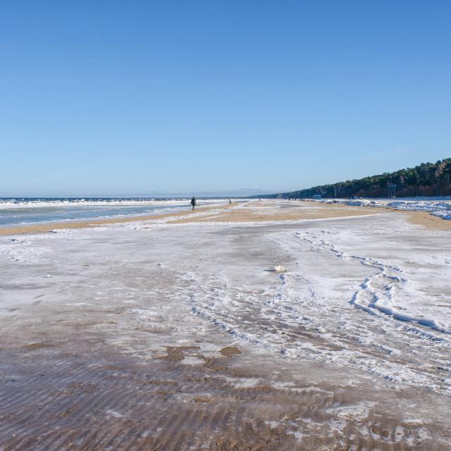 """Shore Of Jurmala In Winter"" stock image"