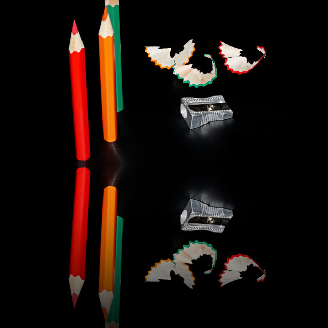 """Pencil reflections"" stock image"