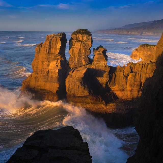 """Punakaiki coastline"" stock image"