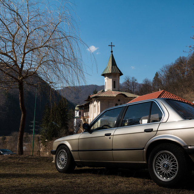 """""""Old BMW"""" stock image"""