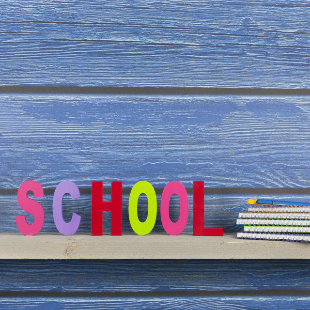 """""""School in colorful letters"""" stock image"""