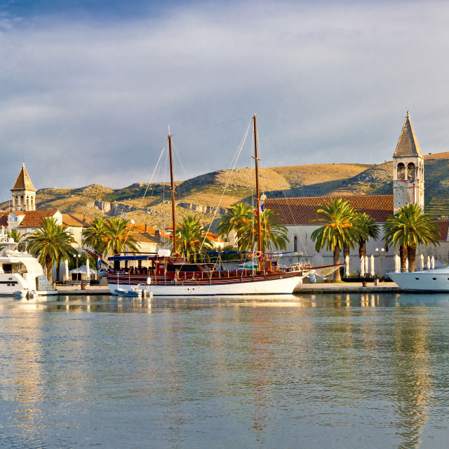 """UNESCO town of Trogir waterfront"" stock image"