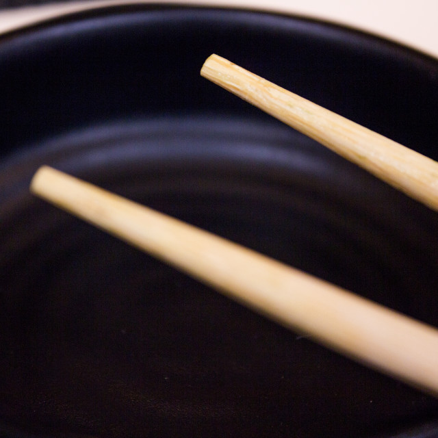 """Chinese wooden chopsticks"" stock image"