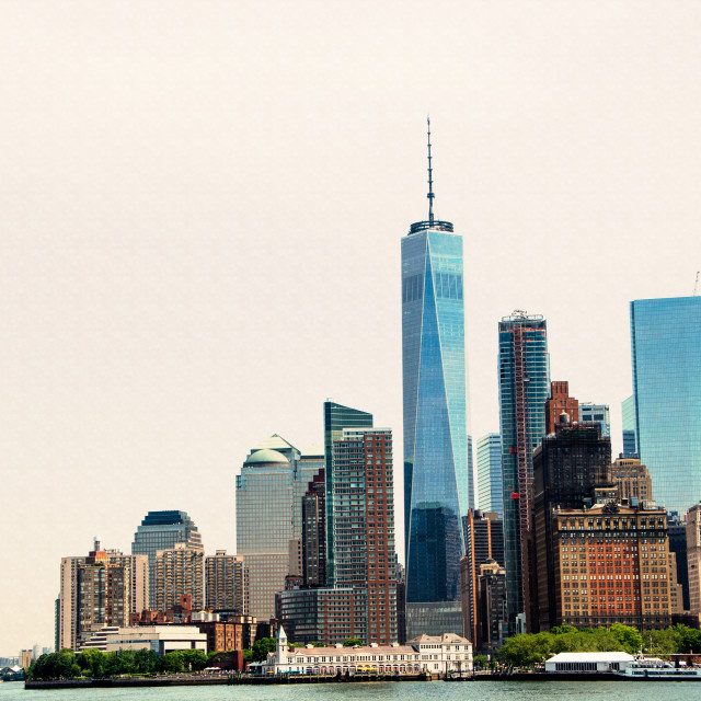 """New York from Staten Island Ferry"" stock image"