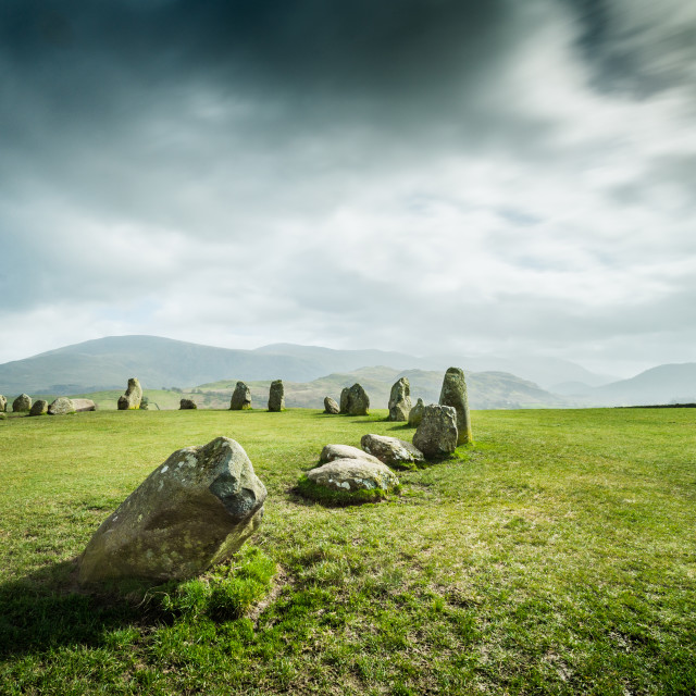"""Castlerigg Stone Circle, Cumbria. UK"" stock image"