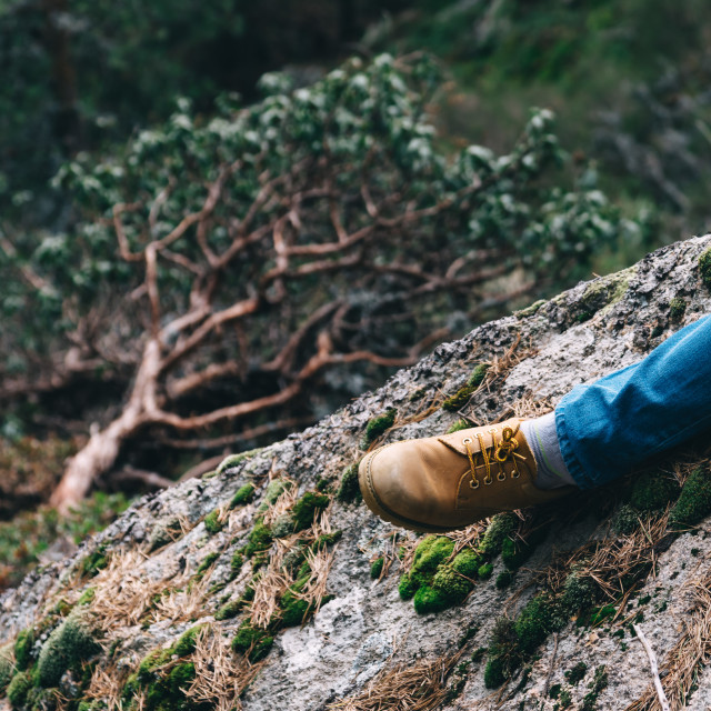 """""""Low Section Of Man in the mountain"""" stock image"""