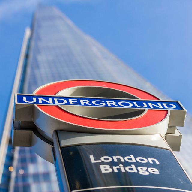 """London Bridge Underground"" stock image"