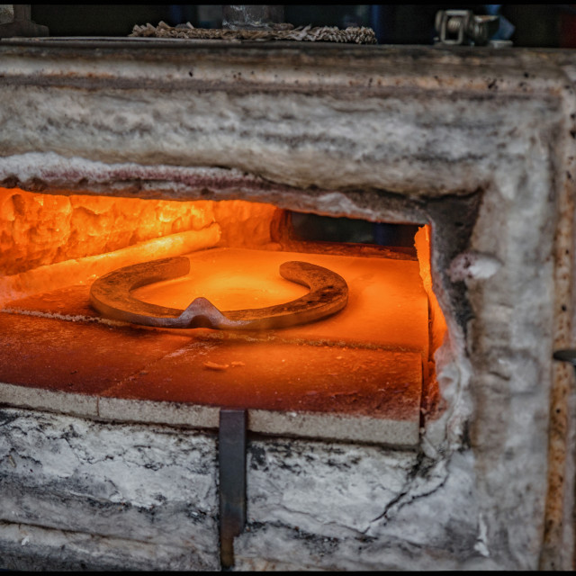 """Blacksmiths forge"" stock image"