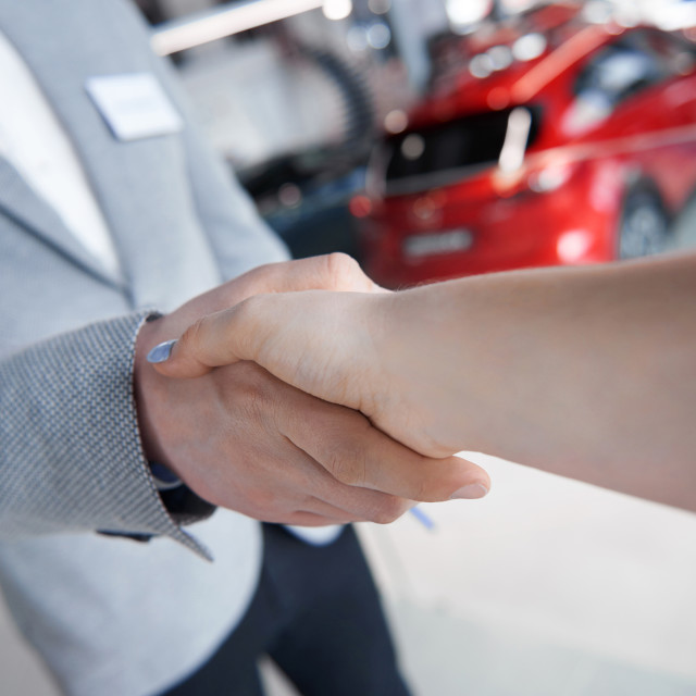 """""""Handshake certainly the sign of approval"""" stock image"""