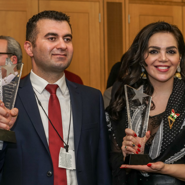 """Newroz Reception and Most Successful Kurds in Britain Awards"" stock image"