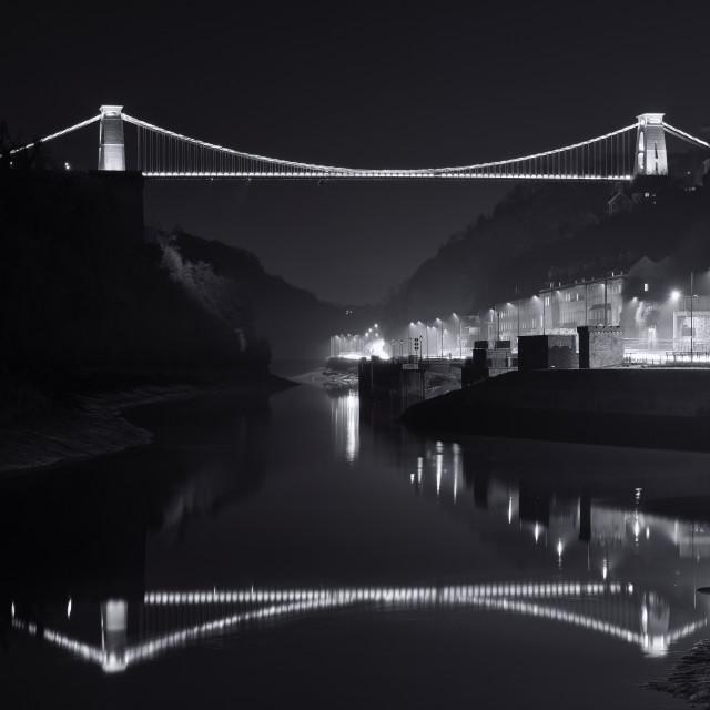 """The Clifton Bridge"" stock image"