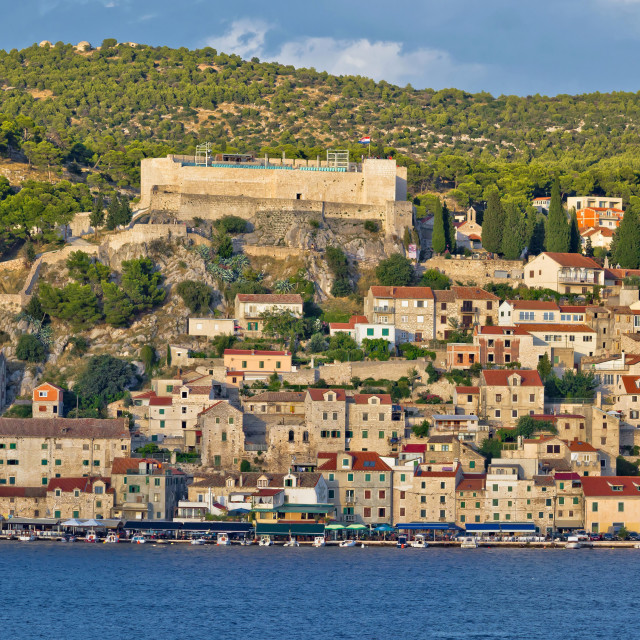 """Town of Sibenik historic waterfront"" stock image"