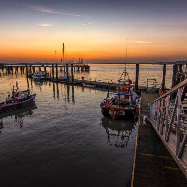 """""""Old Harwich at Twilight"""" stock image"""