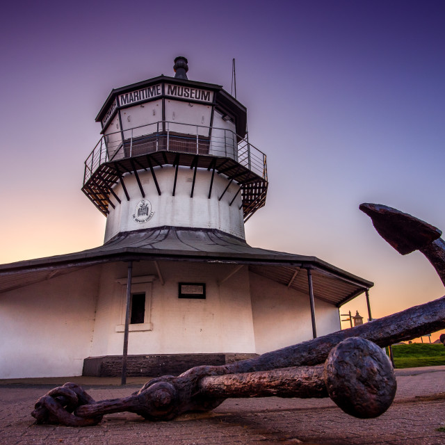 """""""Harwich Light Museum Anchor"""" stock image"""