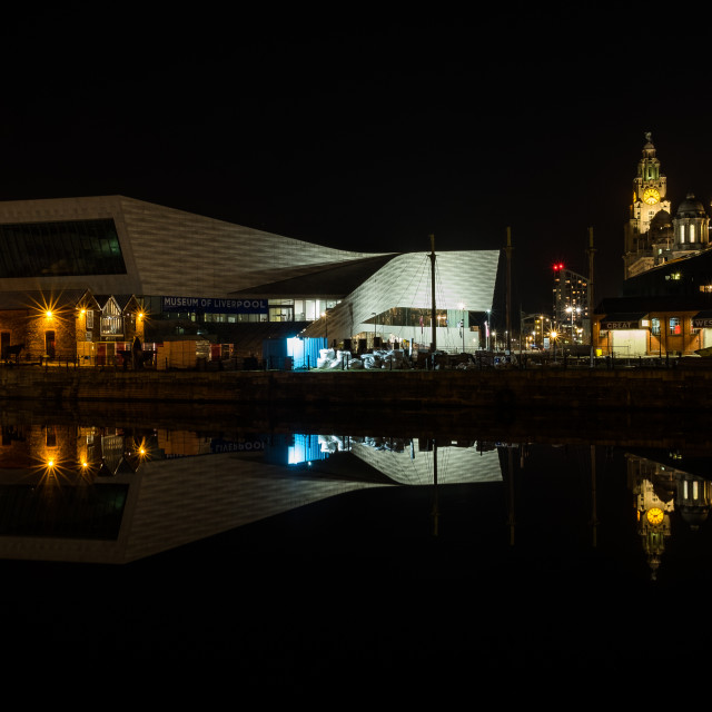 """Museum of Liverpool at Night"" stock image"