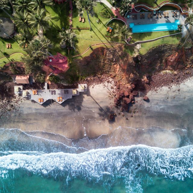 """Luxury beach resort at the Atlantic ocean"" stock image"