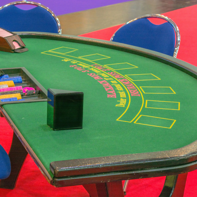 """Casino table blackjack table"" stock image"