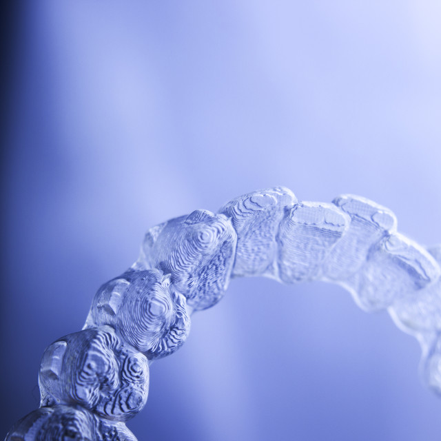 """Invisible aligners teeth retainers"" stock image"