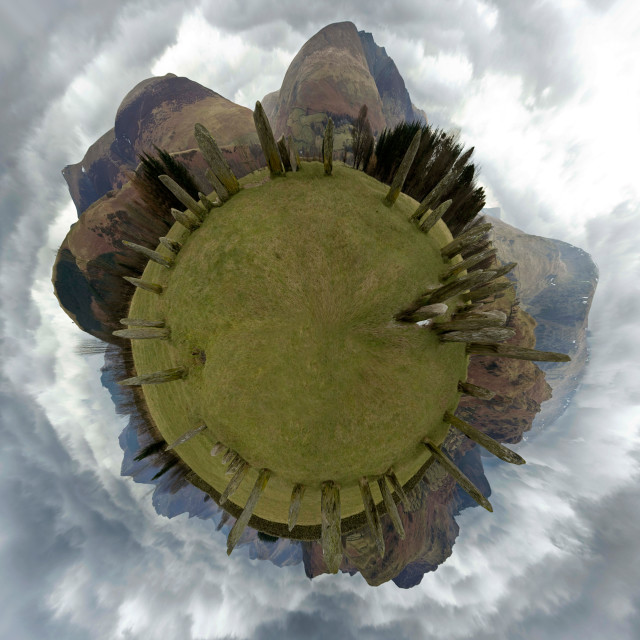 """Castlerigg Little Planet One"" stock image"