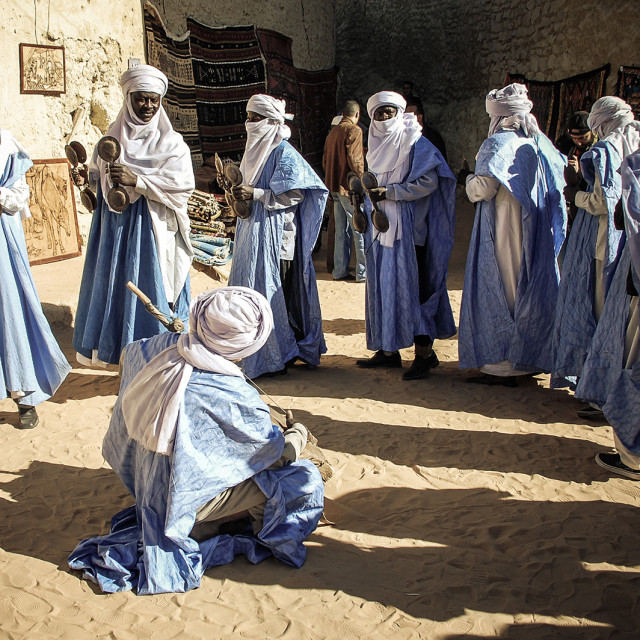 """The Libyan Tuareg ""GHAT""LIBYA Dance with Music"" stock image"