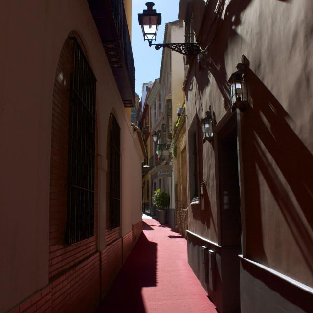"""Seville Side Streets"" stock image"