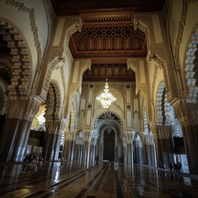 """""""Mosque Hassan II"""" stock image"""