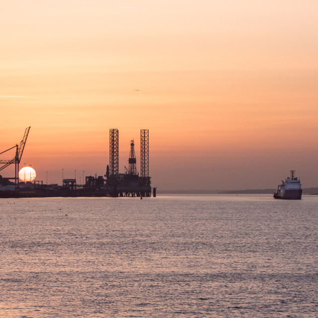"""""""Setting Sail From Harwich International"""" stock image"""