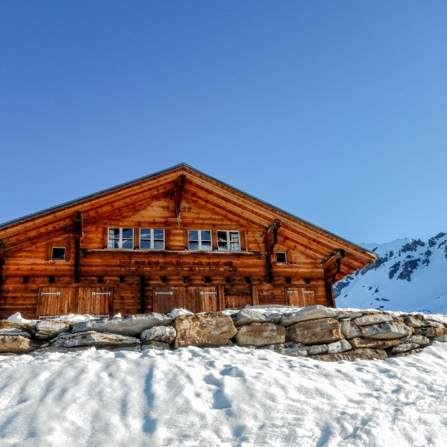 """Swiss Mountain Chalet"" stock image"