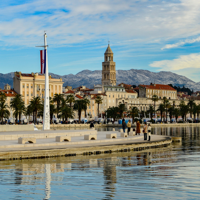 """Split Waterfront Panorama"" stock image"
