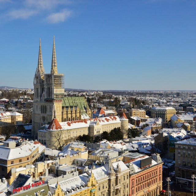 """""""Cityscape of Zagreb, Croatia"""" stock image"""