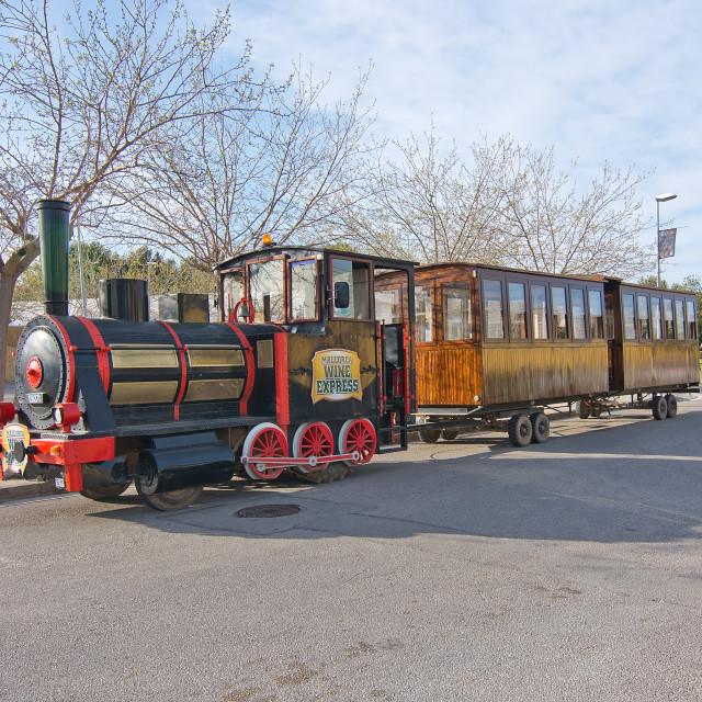 """Wine tourist train"" stock image"