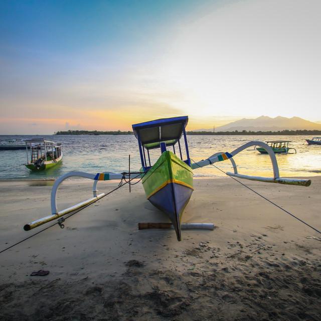 """Gilitrawangan Beach"" stock image"