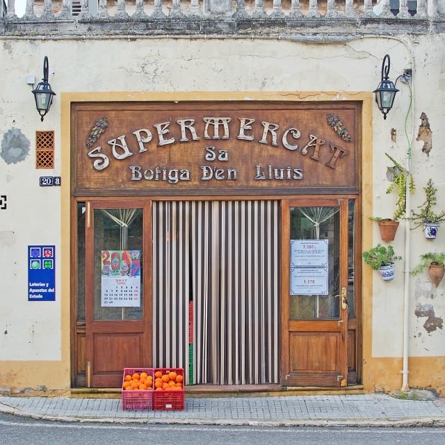 """Beautiful art nouveau supermarket entrance"" stock image"