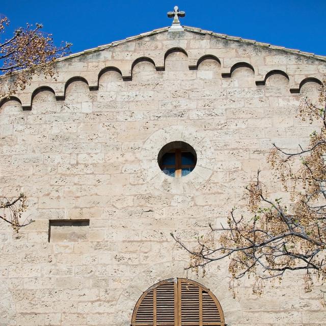 """""""Santa Catalina church tower detail"""" stock image"""