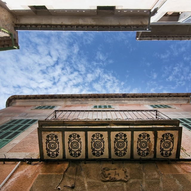 """""""Decorated balcony Soller"""" stock image"""