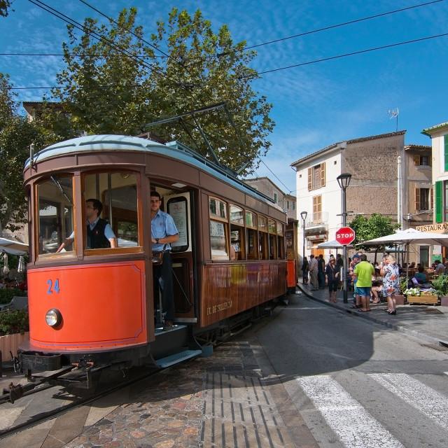 """Soller tram Mallorca"" stock image"