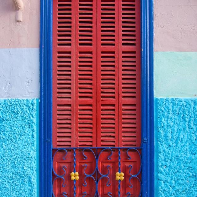 """Colorful Palma window"" stock image"
