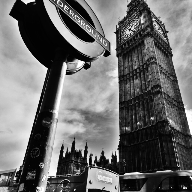 """Underground and Big Ben"" stock image"