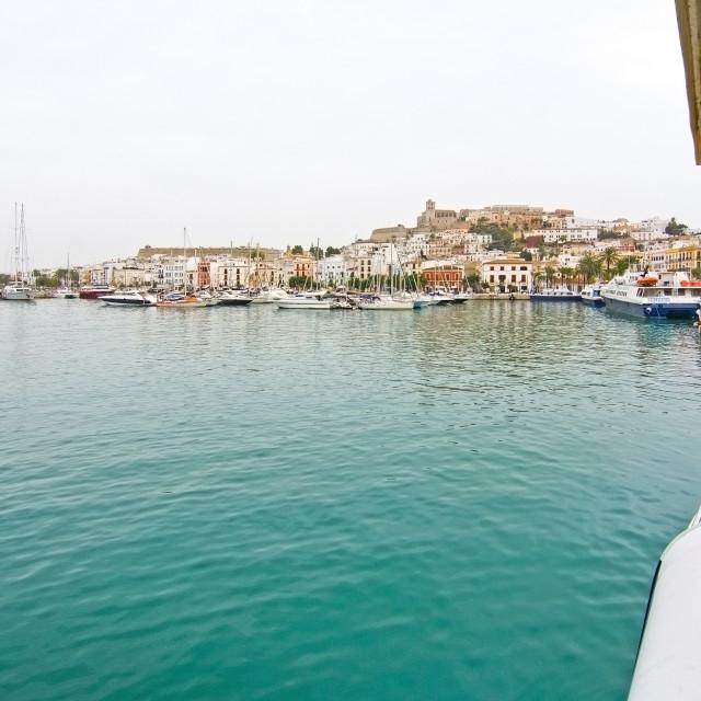 """Ferry Ibiza Dalt Vila Eivissa"" stock image"
