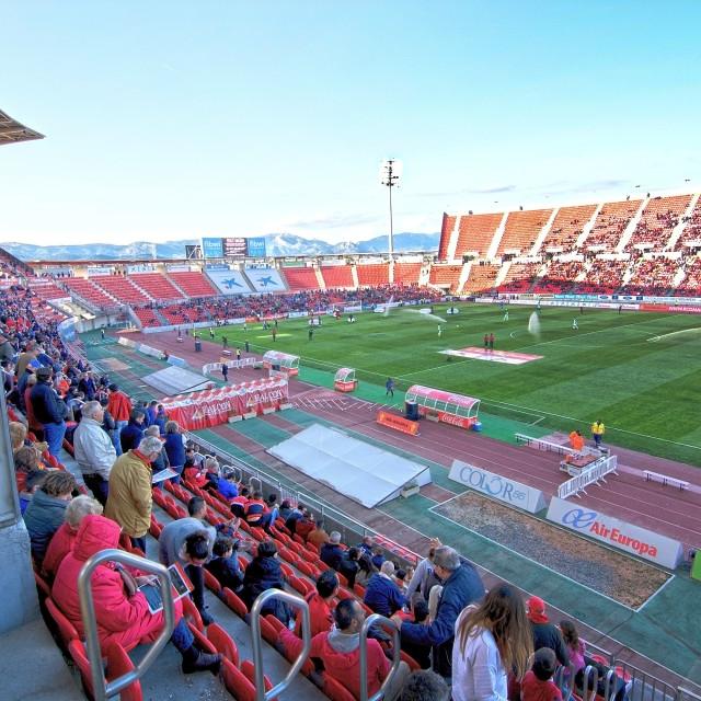 """Game at Iberostar Stadium Son Moix"" stock image"